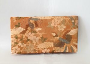 Double Phoenix Vintage Obi Silk Clutch